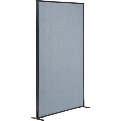 """Interion® Freestanding Office Partition Panel, 36-1/4""""W x 72""""H, Blue"""