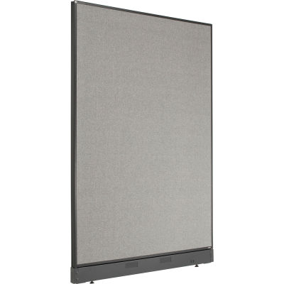 """Interion® Non-Electric Office Partition Panel with Raceway, 48-1/4""""W x 64""""H, Gray"""
