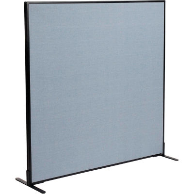 """Interion® Freestanding Office Partition Panel, 60-1/4""""W x 60""""H, Blue"""