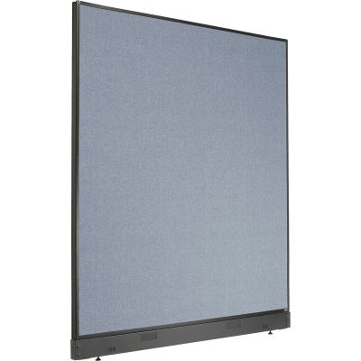 """Interion® Non-Electric Office Partition Panel with Raceway, 60-1/4""""W x 64""""H, Blue"""