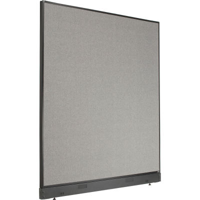 """Interion® Non-Electric Office Partition Panel with Raceway, 60-1/4""""W x 64""""H, Gray"""