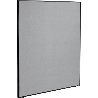 """Interion® Office Partition Panel, 60-1/4""""W x 72""""H, Gray"""