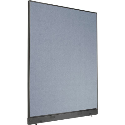 """Interion® Office Partition Panel with Raceway, 60-1/4""""W x 76""""H, Blue"""