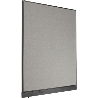 """Interion® Office Partition Panel with Raceway, 60-1/4""""W x 76""""H, Gray"""
