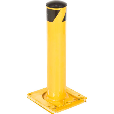 Global Industrial™ Removable Steel Bollard With Removable Plastic Cap 42 X 5-1/2