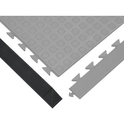 "Wearwell® Rejuvenator Ramp Female 5/8"" Thick 3.25'  Black"