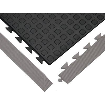 "Wearwell® Rejuvenator Squared Interlocking Tile 5/8"" Thick 3' x 3' Black"
