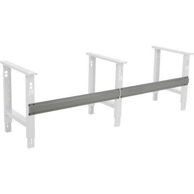 """Global Industrial™ Workbench Stringer for 96""""W C-Channel Leg Adjustable & Fixed Height - Gray"""