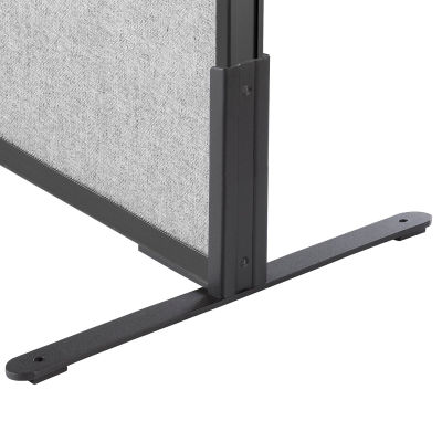 "Interion® 8""H T-Leg Bracket for Office Partition Panels, Black (1 Pair)"