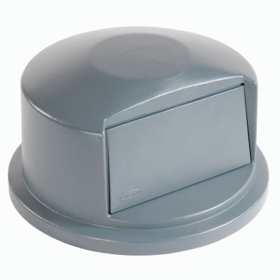 Dome Lid For 44 Gallon Round Trash Container - Gray