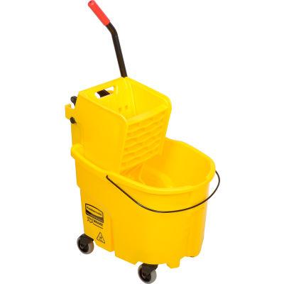 Rubbermaid WaveBrake® 2.0 Mop Bucket & Wringer Combo w/Side Press, 26-35 Qt. 7580-88