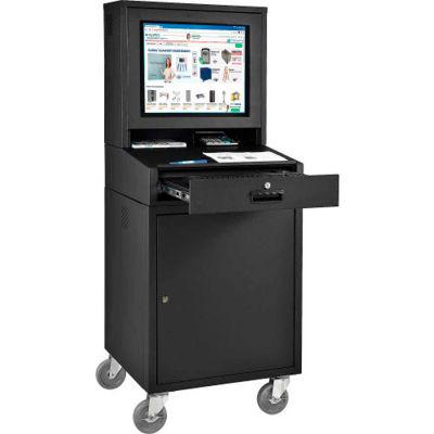 Global Industrial™ Mobile Security LCD Computer Cabinet Enclosure, Black, Unassembled
