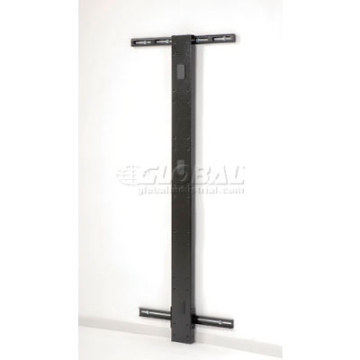 "Global Industrial™ 72""H Wall Mount Post - Black"
