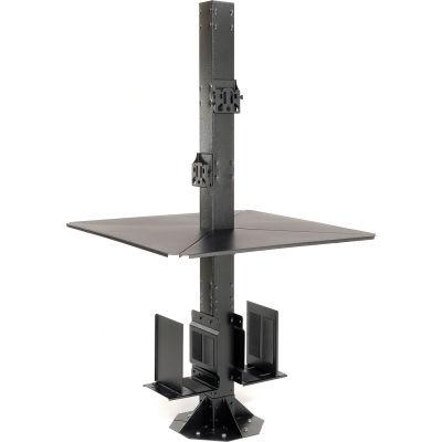 """Global Industrial™ 81""""H Complete Floor Mount Orbit Computer Kiosk with VESA Mounts, Black"""