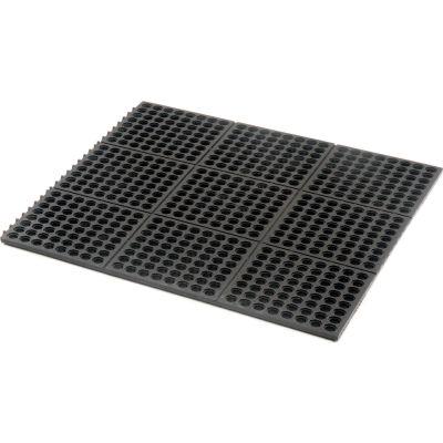 "Apache Mills Performa 100N""; Modular Drainage Mat 5/8"" Thick 3' x 3' Black"