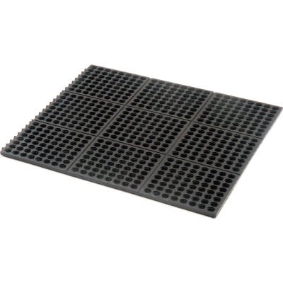 "Apache Mills Performa 100N™ Modular Drainage Mat 5/8"" Thick 3' x 3' Black"