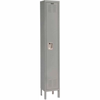 Hallowell U1888-1A-HG Premium Locker Single Tier 18x18x72 1 Door Assembled - Dark Gray