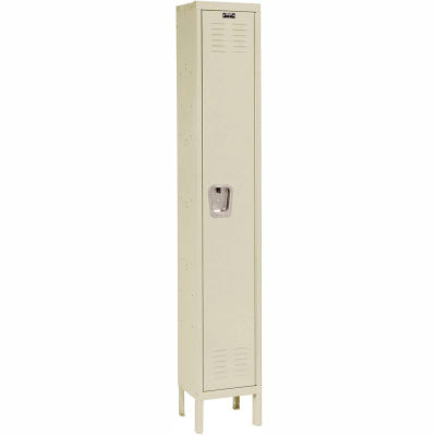 Hallowell U1818-1A-PT Premium Locker Single Tier 18x21x72 - 1 Door Assembled - Tan