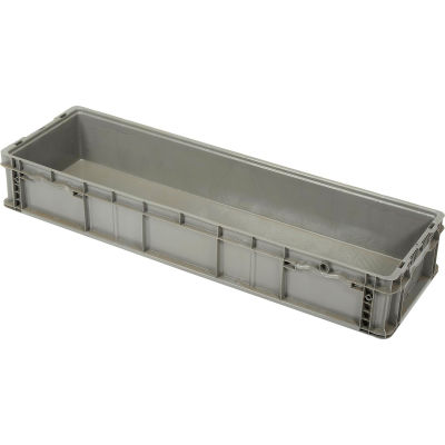 ORBIS Stakpak NXO4815-7GRAY Plastic Long Stacking Container 48 x 15 x 7-1/2 Gray