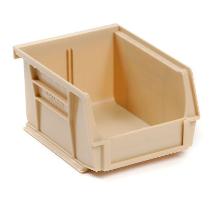 Global Industrial™ Plastic Stack and Hang Parts Storage Bin 4-1/8 x 7-3/8 x 3, Beige - Pkg Qty 24