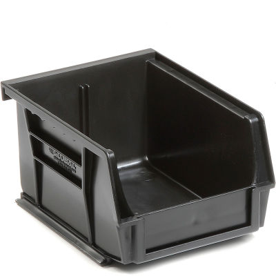 Global Industrial™ Plastic Stack and Hang Parts Storage Bin 4-1/8 x 5-3/8 x 3, Black - Pkg Qty 24