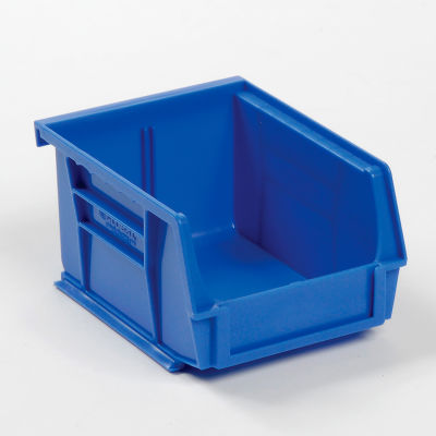 "Global Industrial™ Plastic Stack & Hang Bin, 4-1/8""W x 5-3/8""D x 3""H, Blue - Pkg Qty 24"