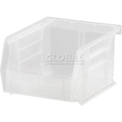 Plastic Stack and Hang Parts Storage Bin 4-1/8 x 5-3/8 x 3 Clear - Pkg Qty 24