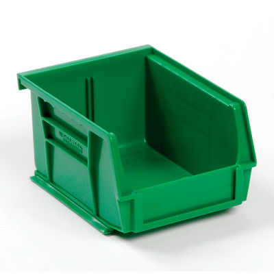 Global Industrial™ Plastic Stack and Hang Parts Storage Bin 4-1/8 x 5-3/8 x 3, Green - Pkg Qty 24