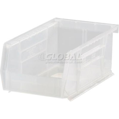 Plastic Stack and Hang Parts Storage Bin 4-1/8 x 7-3/8 x 3 Clear - Pkg Qty 24