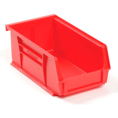 Global Industrial™ Plastic Stack and Hang Parts Storage Bin 4-1/8 x 7-3/8 x 3, Red - Pkg Qty 24