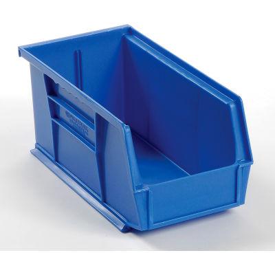 "Global Industrial™ Plastic Stack & Hang Bin, 5-1/2""W x 10-7/8""D x 5""H, Blue - Pkg Qty 12"