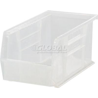 "Global Industrial™ Plastic Stack & Hang Bin, 5-1/2""W x 10-7/8""D x 5""H, Clear - Pkg Qty 12"