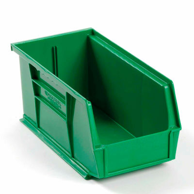 Global Industrial™ Plastic Stack and Hang Parts Storage Bin 5-1/2 x 10-7/8 x 5, Green - Pkg Qty 12