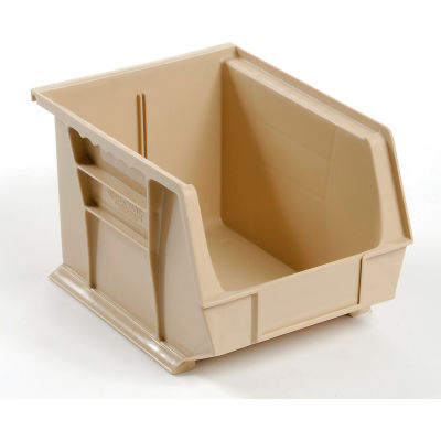 Global Industrial™ Plastic Stack and Hang Parts Storage Bin 8-1/4 x 10-3/4 x 7, Beige - Pkg Qty 6