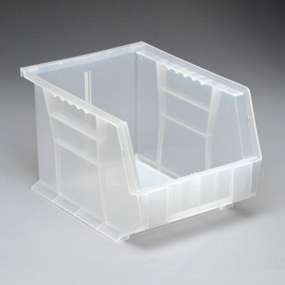 Plastic Stack and Hang Parts Storage Bin 8-1/4 x 10-3/4 x 7 Clear - Pkg Qty 6