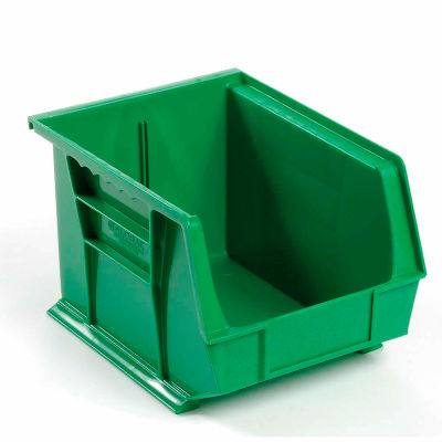 Global Industrial™ Plastic Stack and Hang Parts Storage Bin 8-1/4 x 10-3/4 x 7, Green - Pkg Qty 6