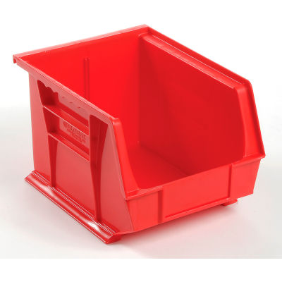 Global Industrial™ Plastic Stack and Hang Parts Storage Bin 8-1/4 x 10-3/4 x 7, Red - Pkg Qty 6