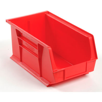 Global Industrial™ Plastic Stack and Hang Parts Storage Bin 8-1/4 x 14-3/4 x 7, Red - Pkg Qty 12