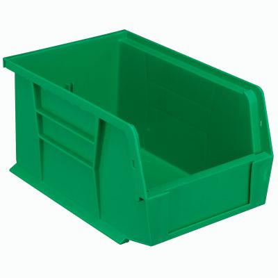 "Plastic Stack & Hang Bin, 6""W x 9-1/4""D x 5""H, Green - Pkg Qty 12"