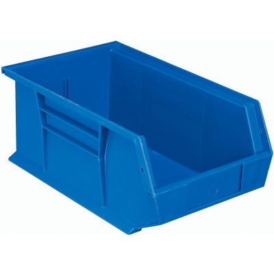 Plastic Stack and Hang Parts Storage Bin 8-1/4 x 13-5/8 x 6 Blue - Pkg Qty 12
