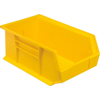 Plastic Stack and Hang Parts Storage Bin 8-1/4 x 13-5/8 x 6 Yellow - Pkg Qty 12