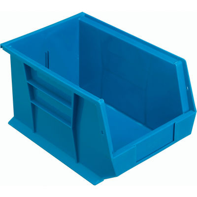 Plastic Stack and Hang Parts Storage Bin 8-1/4 x 13-5/8 x 8 Blue - Pkg Qty 12