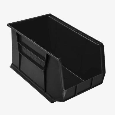 "Akro-Mils® AkroBin® Plastic Stack & Hang Bin, 11""W x 18""D x 10""H, Black - Pkg Qty 6"