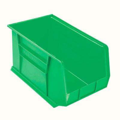 "Akro-Mils® AkroBin® Plastic Stack & Hang Bin, 11""W x 18""D x 10""H, Green - Pkg Qty 6"