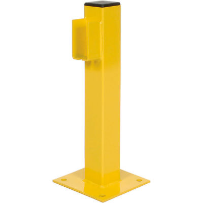 "Bluff Manufacturing Steel Single Rail End Post, 20""H, Yellow"
