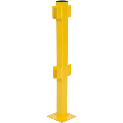 """42""""H Double Rail In-Line Post"""