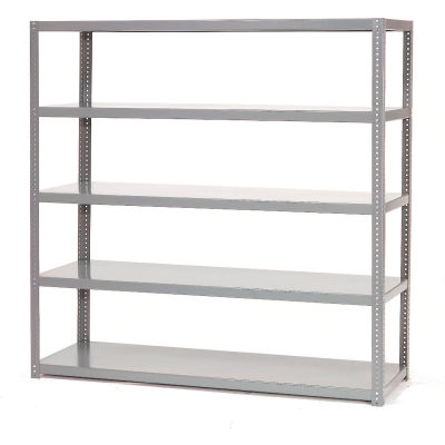 "Global Industrial™ Extra Heavy Duty Shelving, 48""W x 18""D x 72""H, 5 Shelves, Gray"
