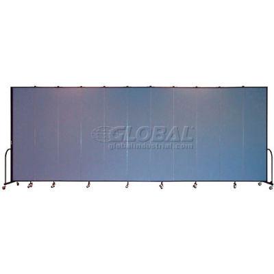 "Screenflex Portable Room Divider 11 Panel, 8'H x 20'5""L, Fabric Color: Blue"