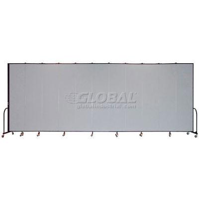 "Screenflex Portable Room Divider 11 Panel, 8'H x 20'5""L, Fabric Color: Gray"