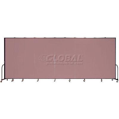 """Screenflex Portable Room Divider 11 Panel, 8'H x 20'5""""L, Fabric Color: Mauve"""
